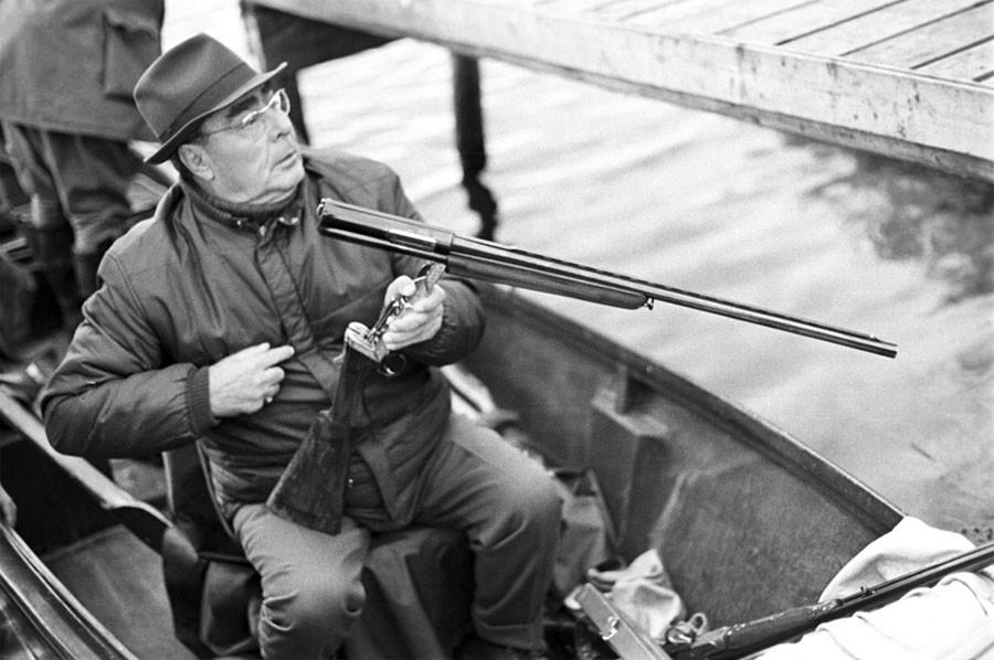 Леонид Ильич Брежнев на охоте, 1972 год