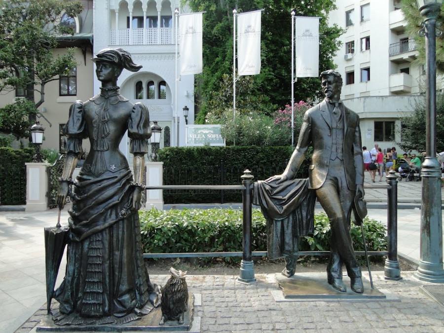 08 Памятник Чехову и Даме с собачкой в Ялте