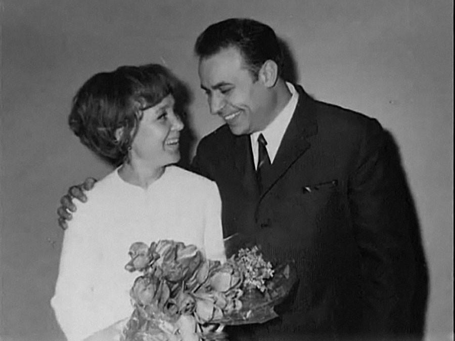 Надежда Румянцева и Вилли Хштоян в день свадьбы, 1966 год