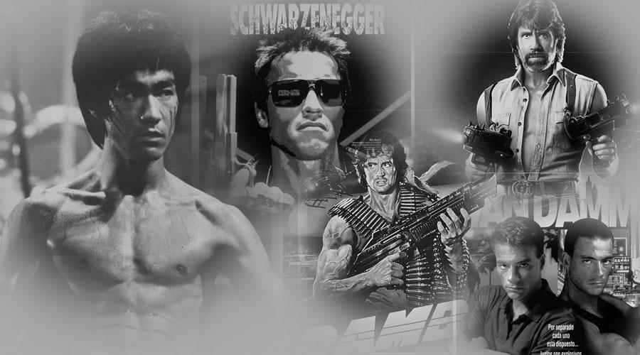 Несколько интересных снимков со съёмок легендарных боевиков эпохи видеосалонов
