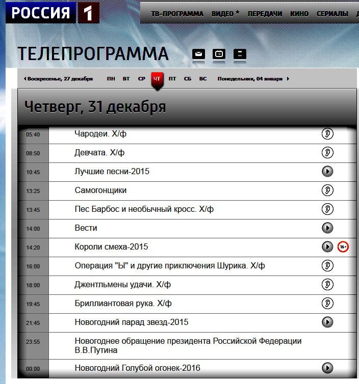 программа 2015 Россия 1