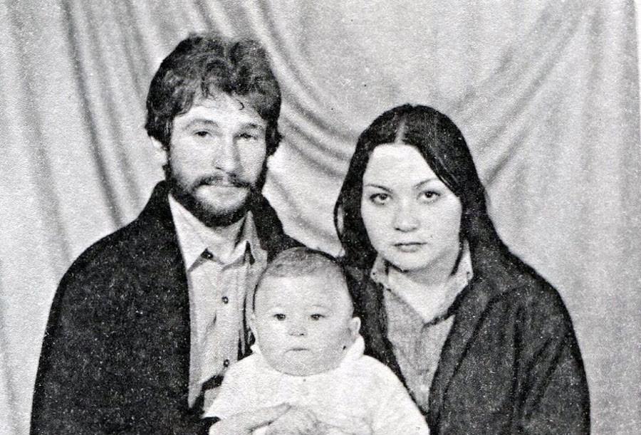Игорь Тальков с женой Татьяной и сыном Игорем