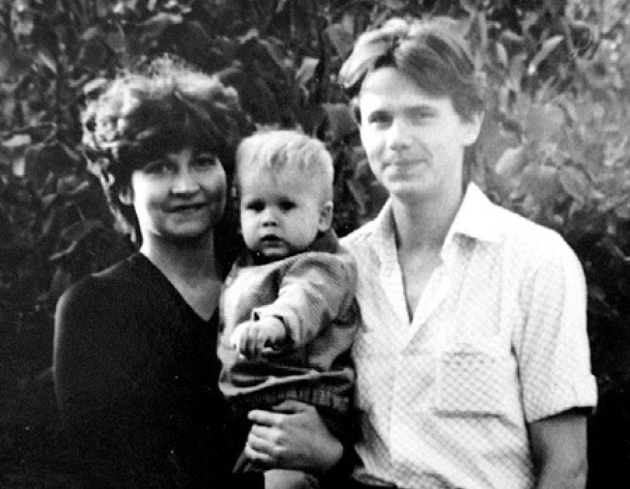 Сергей Чиграков с первой супругой Мариной и сыном Михаилом