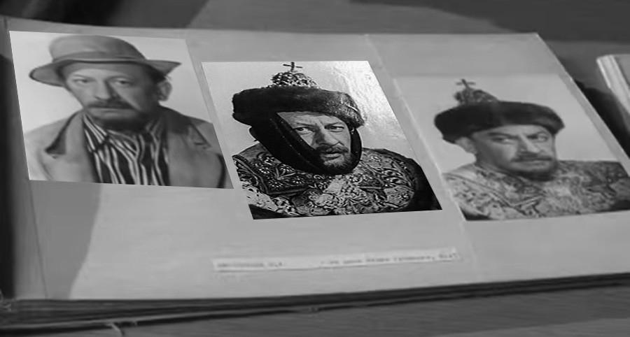 Фотопробы Евгения Евстигнеева на роли Бунши и Ивана Грозного в фильм Иван Васильевич меняет профессию