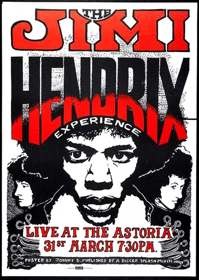 406 Jimi Hendrix Experience - concert poster - 1967-68