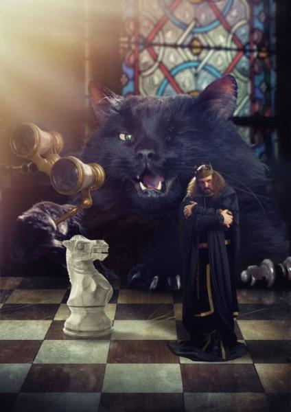 18 «Кот, отставив от глаз бинокль, тихонько подпихнул своего короля в спину»