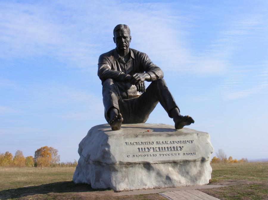 116 Памятник Василию Шукшину в селе Сростки Алтайского края