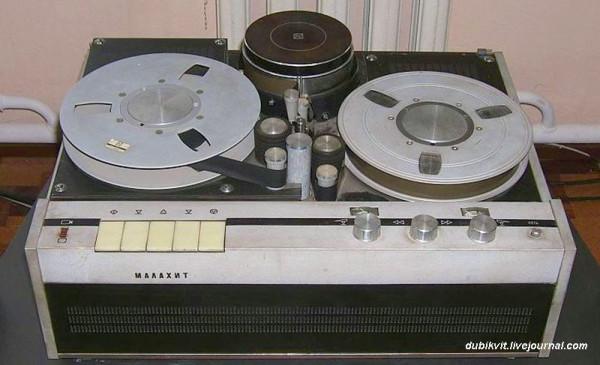 105 Катушечный транзисторный видеомагнитофон Малахит 1967 г