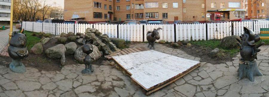 203 Памятник героям мультфильма Винни Пух и все-все-все (Раменское)