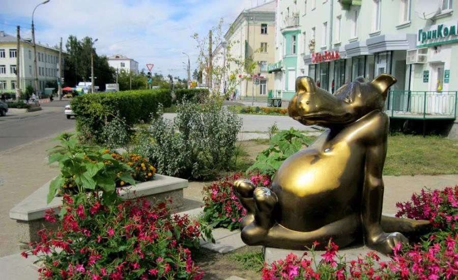 207 памятник волку из мультфильма Жил-был пёс в Ангарске