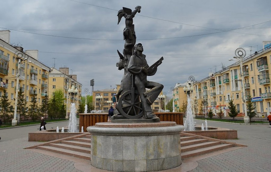 208 Фонтан «Бременские музыканты» (Красноярск, Россия)