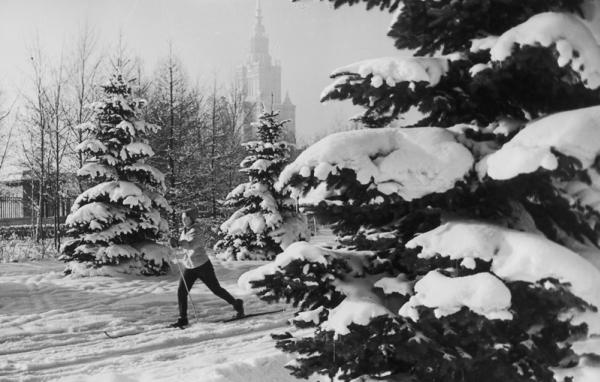 Зима на Ленгорах. Автор Грановский Наум, 1960-e.jpg