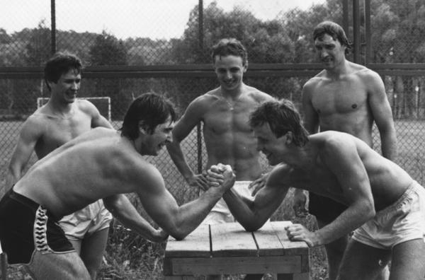 А. Касатонов, В. Фетисов, И . Ларионов, В. Быков, В. Зубков, 1980 год