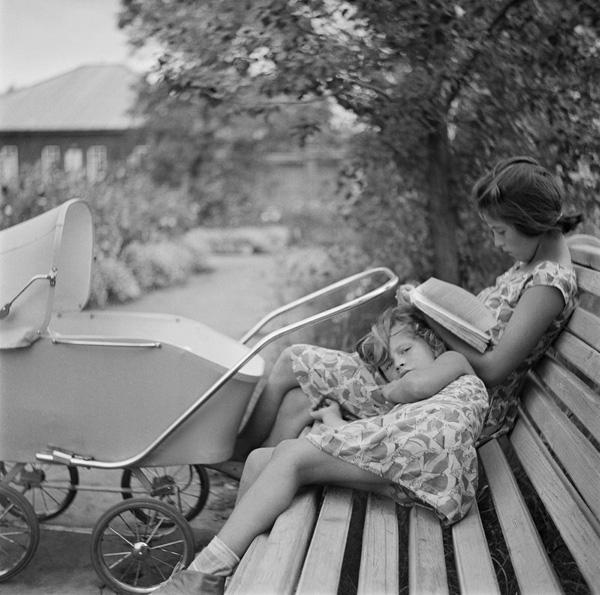 Поселок Шушенское. Красноярский край. Автор Волков Эрвин, 1950.jpg