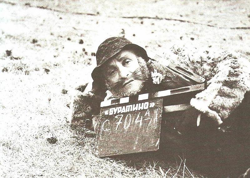 Ролан Быков на съёмках фильма «Приключения Буратино».jpg