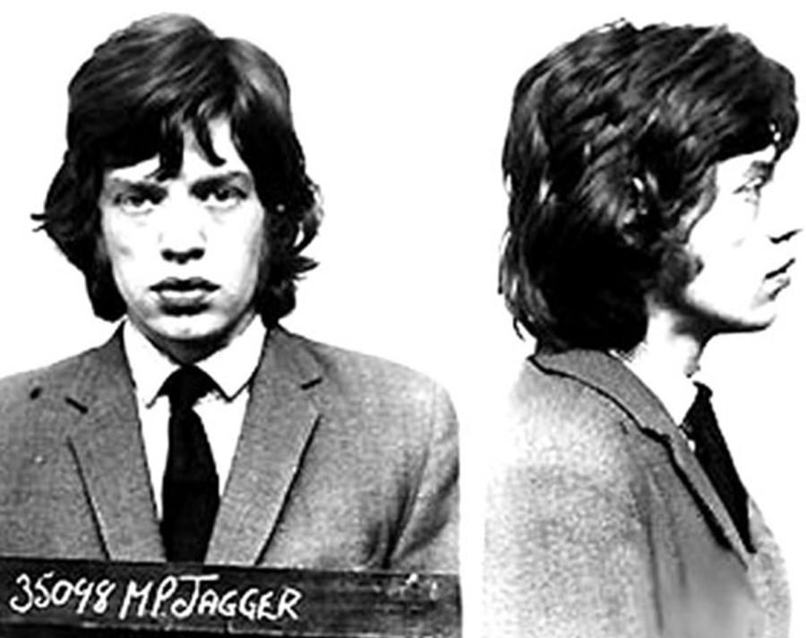 409 Мик Джаггер, снимок из полицейского досье, 1967