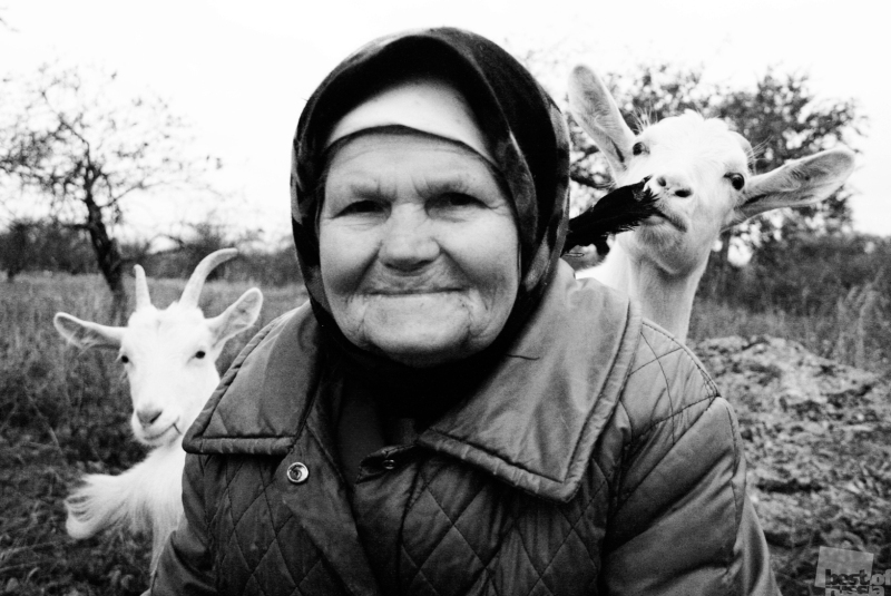 Бабушка и Козы. Автор Евгений Ганников.jpg