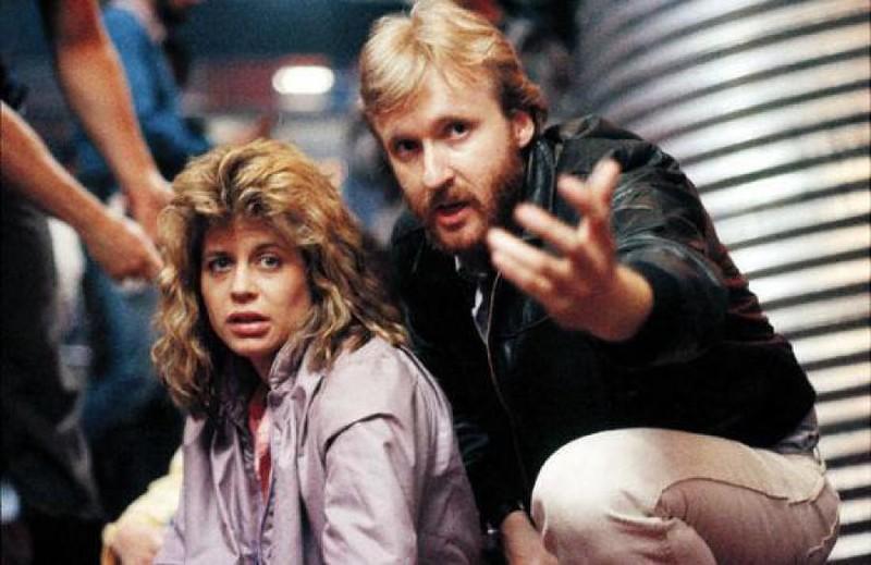 Джеймс Кэмерон и Линда Хэмилтон на съёмках фильма «Терминатор».jpg
