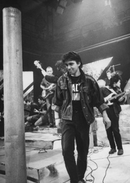 005 Сергей Курёхин во время телемоста Москва-Ленинград, весна 1987 год