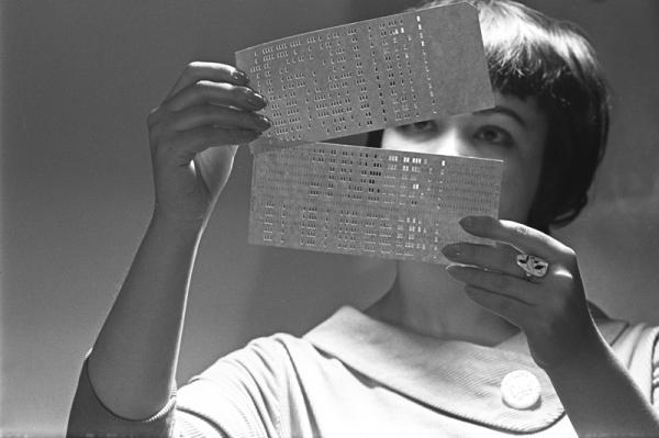 Язык племени майя разгадан. Перфокарты. Автор Халип Яков, 1962.jpg