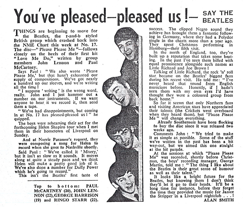 09 The Beatles - NME Article, February 1st, 1963.jpg