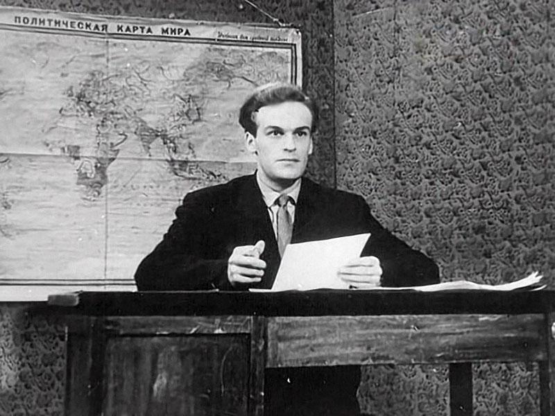 Игорь Кириллов, первые дни в эфире, сентябрь 1957 года.JPG