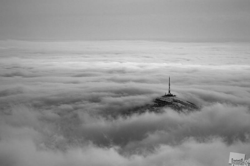 Зимний вид на вершину горы Машук с вершины горы Бештау. Автор Дмитрий Теницкий.jpg