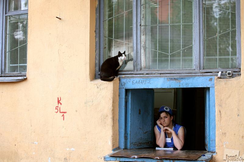 Человек и кошка. Автор Александр Аншуков.jpg