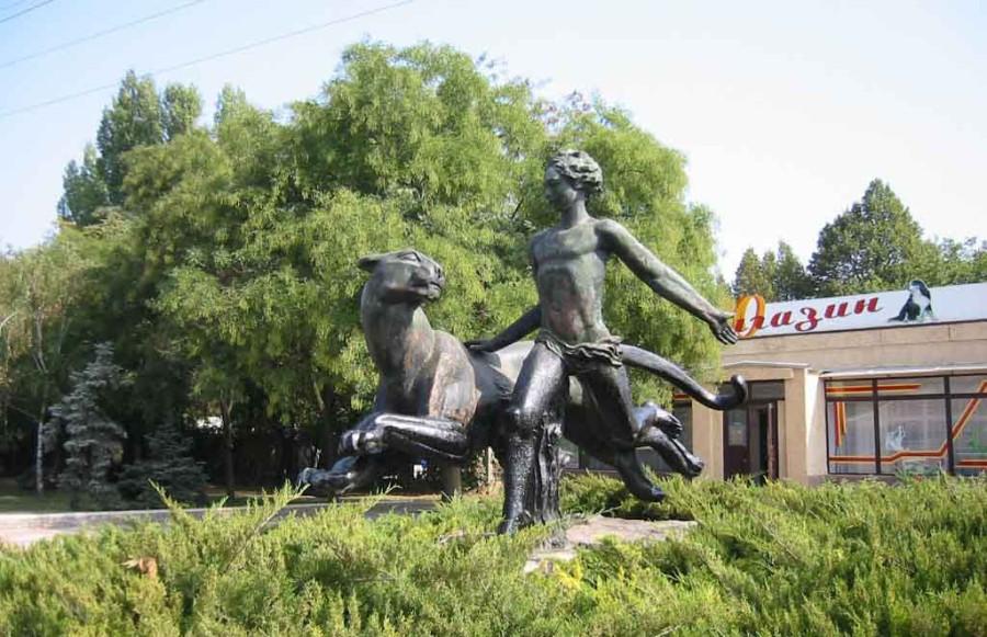 229 памятник Маугли и Багире в Николаеве