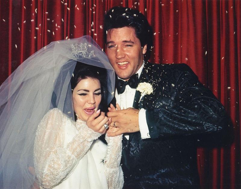 1092 Элвис и Присцилла Пресли - день свадьбы - 1967.jpg