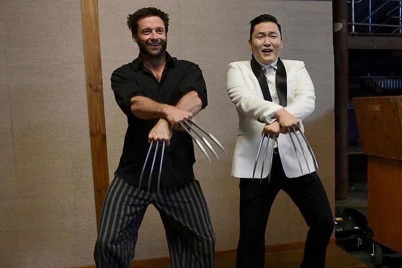 352 Хью Джекман и Psy