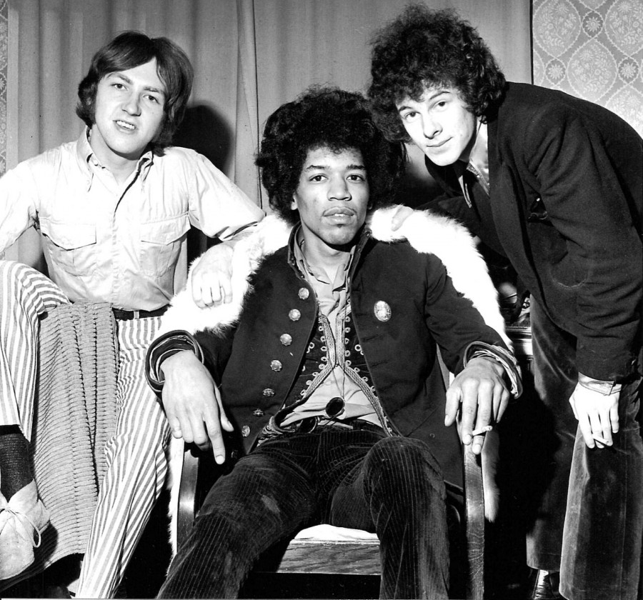 374 Jimi Hendrix Experience - photo by Ian Wright - 1967