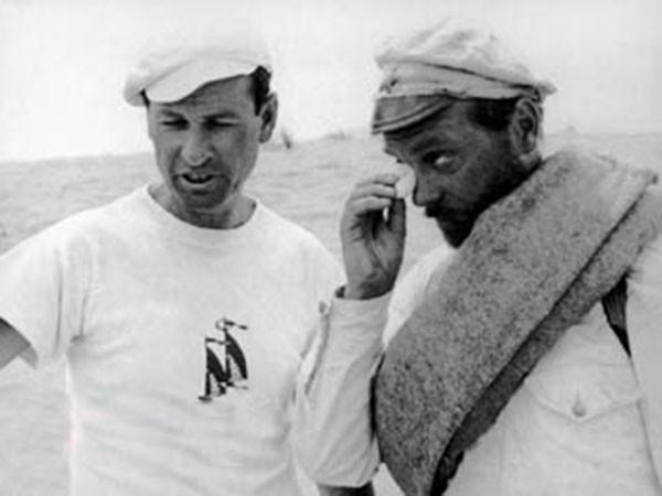 002Владимир Мотыль и Анатолий Кузнецов в Байрам-Али (Каракумы) на съемках фильма Белое солнце пустыни