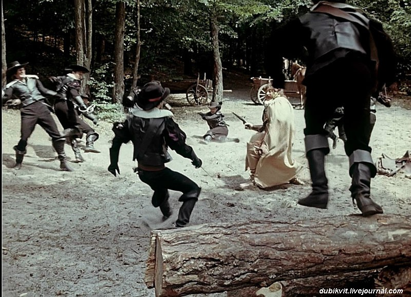 Как проходили съёмки «Д'Артаньян и три мушкетёра». Часть 4 гвардейцев, Портоса, лошадь, Портос, мушкетёра», фильма, съёмки, фильме, дубль, трюков, Арамиса, верхом, «Д&039Артаньян, Часть, проходили, только, д'Артаньяна, снимать, конных, режиссёра