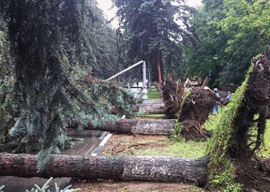 Ураган и наводнение в Кисловодске