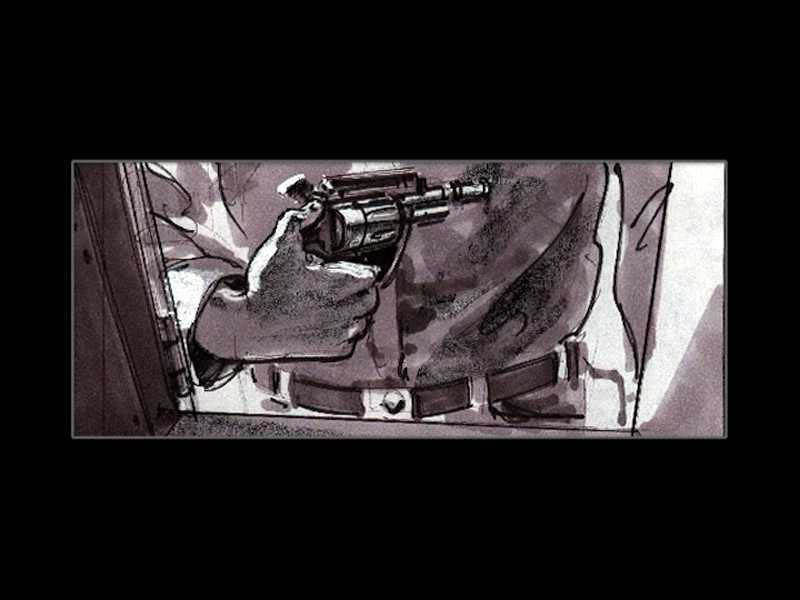 How Terminator 2 was originally supposed to look very, film, scenes, Scene, storyboards, murders, Pay, fence, through, departures, motorcycle, jump, channel, walls, jump, was coming, Terminator, attention, time, car