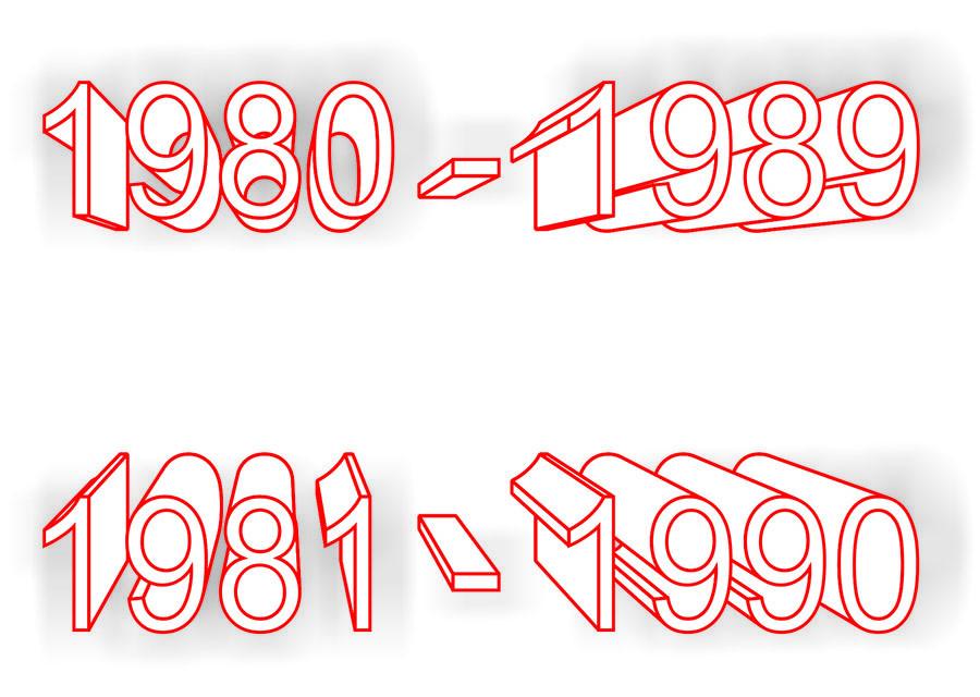 Восьмидесятые - это какие годы. Опрос