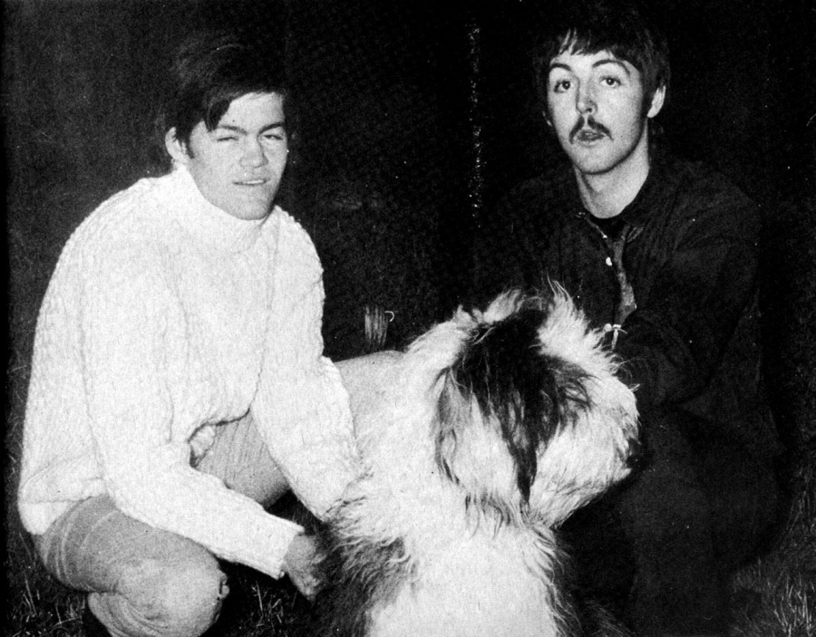 012 Paul McCartney, his dog (Martha My Dear), and Mickey Dolenz, 1967