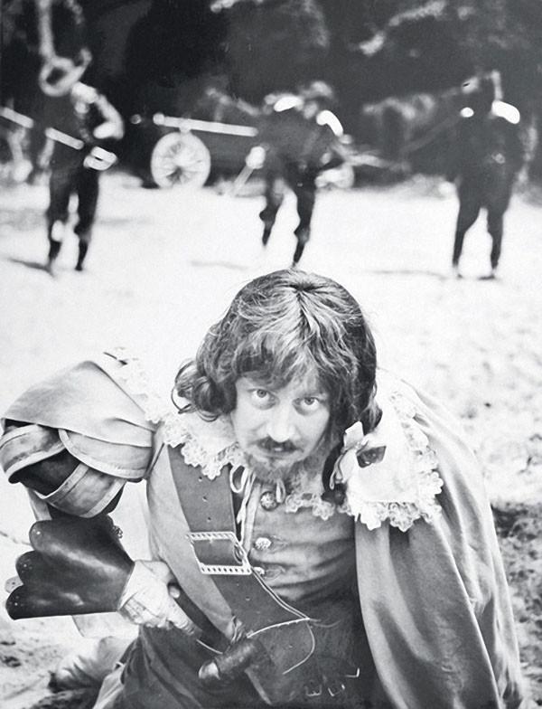 Валентин Смирнитский в роли Портоса на съёмках Трёх мушкетёров