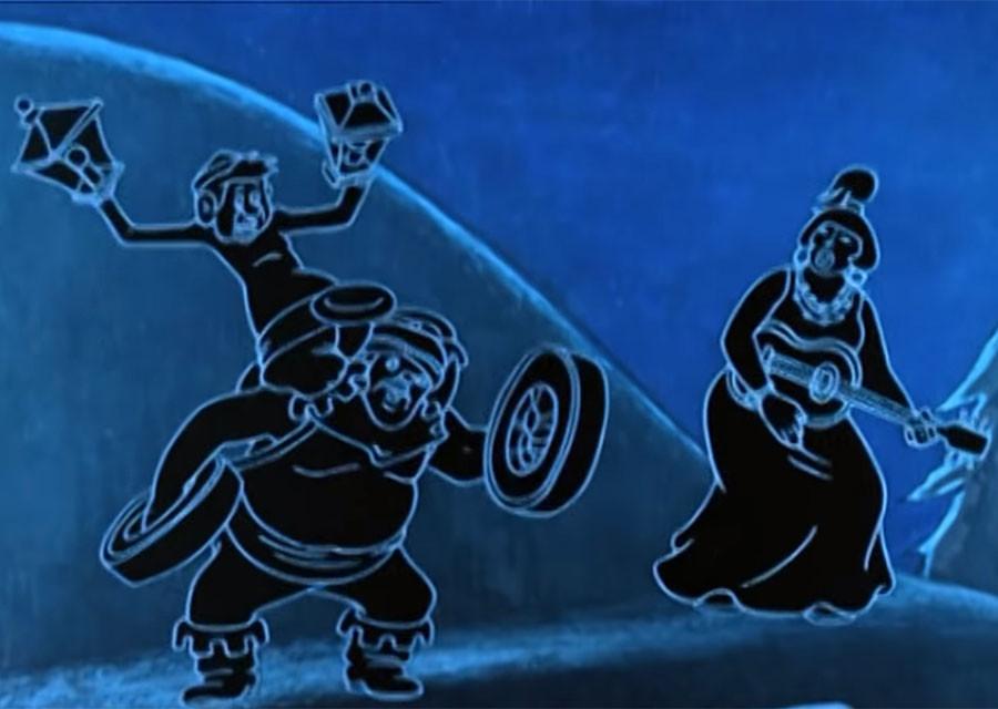 """Что украли разбойники в мультфильме """"По следам Бременских музыкантов"""""""