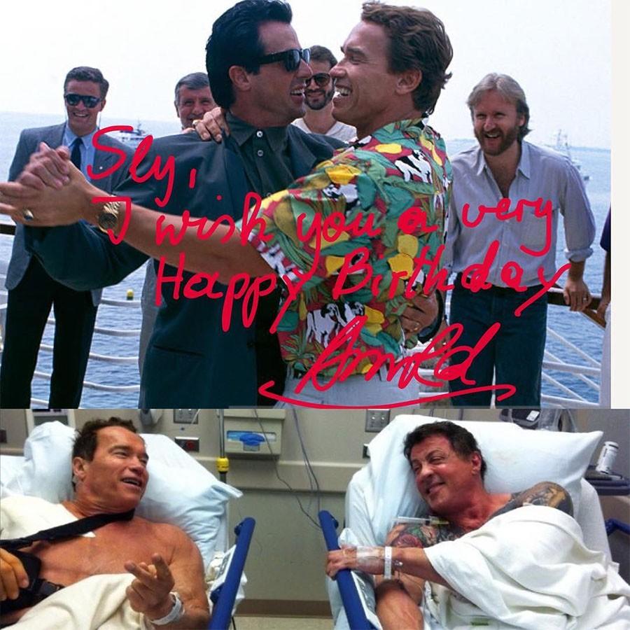 Поздравления с днем рождения мужчине картинка сталлоне шварценеггер, открытки