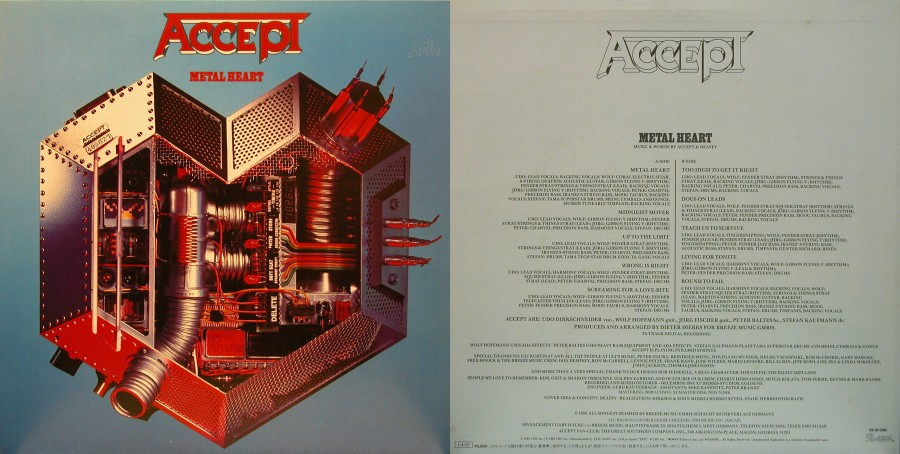 001 ACCEPT --- Metal Heart -- (1985)