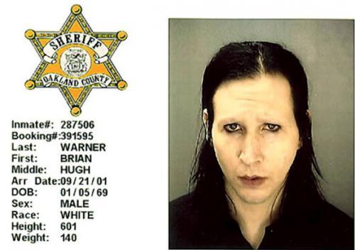 Брайан Хью Уорнер (он же Marilyn Manson) - 2001 (непристойное поведение)