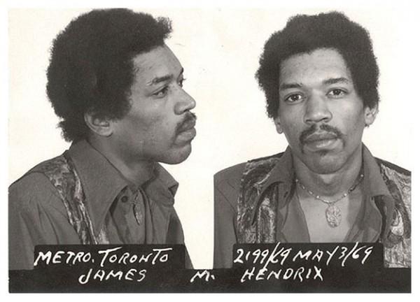 Джими Хендрикс (Jimi Hendrix) – 1969 (перевозка гашиша и героина)