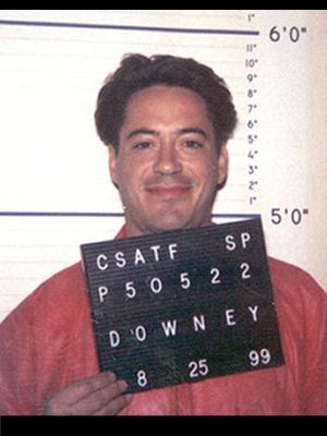 Роберт Дауни-младший (Robert Downey Jr.) - 1996 (вождение в нетрезвом виде. При обыске в машине обнаружили героин)