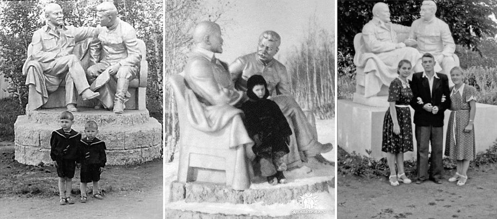 Жители Дубны у памятника И.В. Сталину.jpg