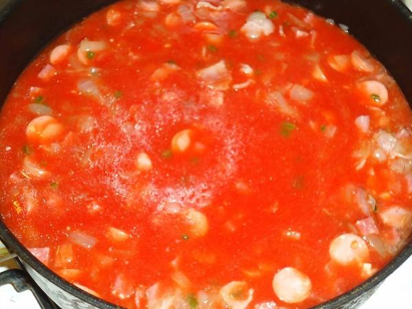 Томатный суп 3
