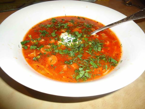Томатный суп 6