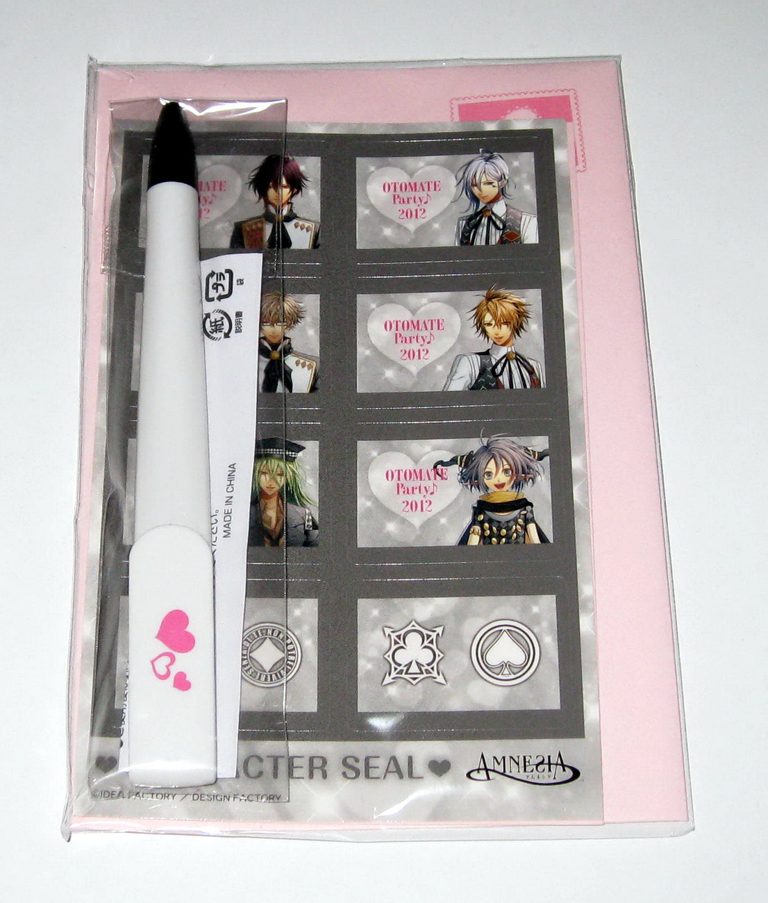 Amnesia - Otomate party 2012 letter set