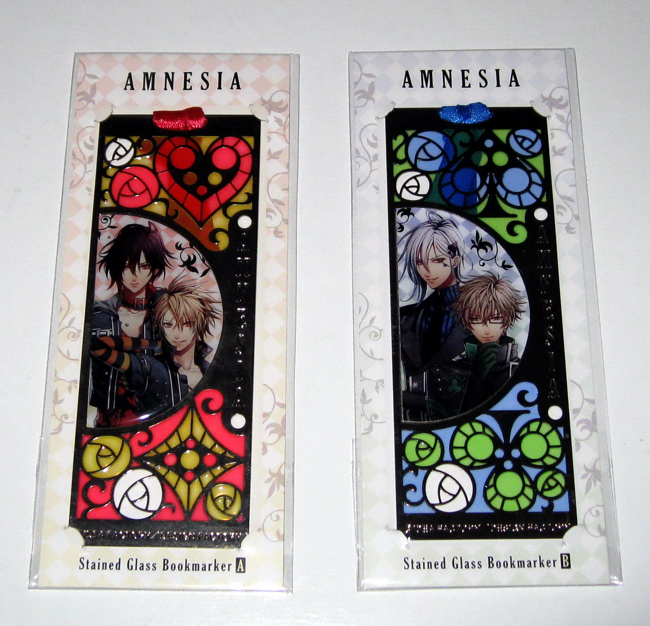 Amnesia - stained glass bookmarkers